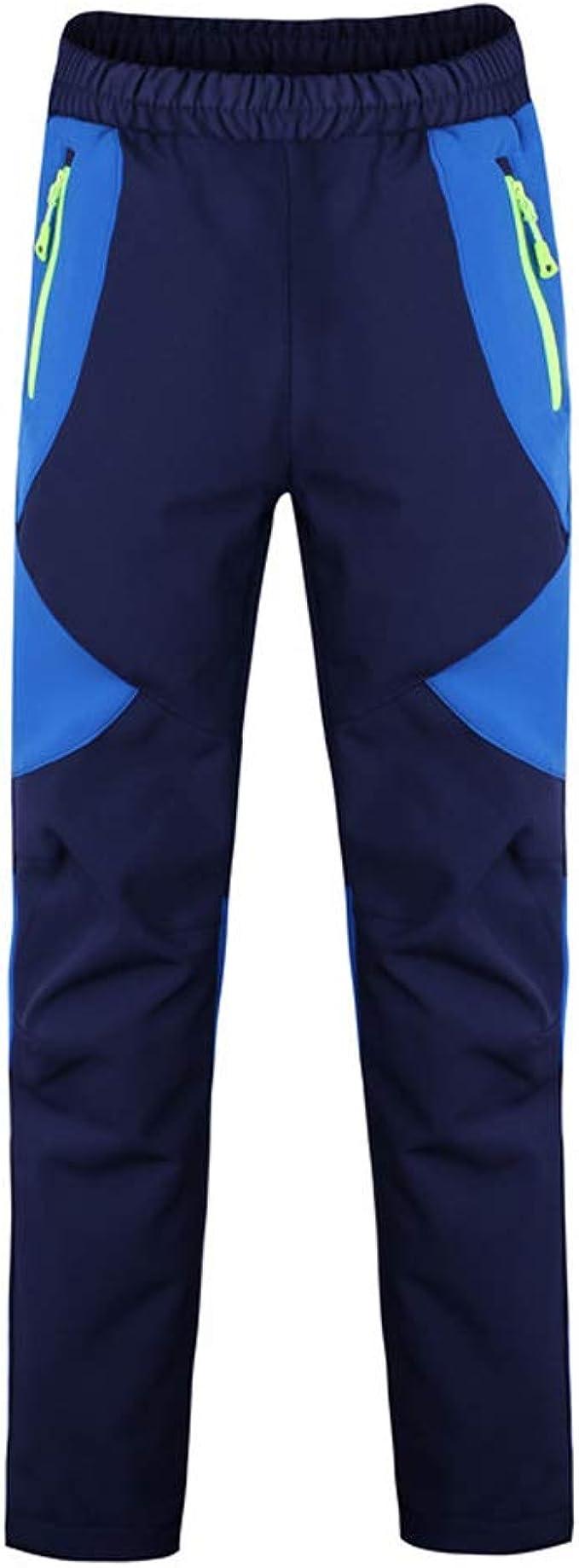 LAPLBEKE Niño Deporte al Aire Libre Pantalones de Trekking Pantalones de Montaña Softshell Pantalones Impermeable Pantalones Senderismo Niña ...