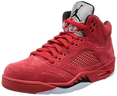 official photos d1e25 1c167 Nike AIR Jordan 5 Retro RED Suede - 136027-602  Buy Online at Low Prices in  India - Amazon.in