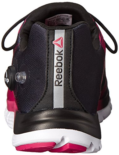 Reebok Women's Zpump Fusion Running Shoe, Black/Blazing Pink/White, 11 M US