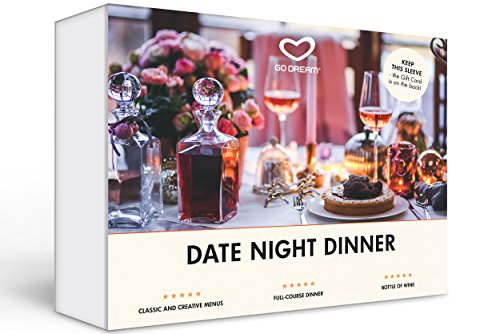 Date Night Dinner in New York Gift Experience Card NYC - GO DREAM - Sent in a Gift Package (Best Romantic Dinner Nyc)