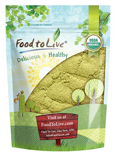 Organic Moringa Powder, 2 Pounds — High in, Non-GMO, Ground Moringa Oleifera Leaf, Raw, Sun-Dried, Vegan, Bulk, Great for Drinks, Teas and Smoothies