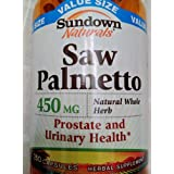 Sundown Naturals Saw Palmetto, 450 mg, Capsules, Value Size, 250 ct (Pack of 3)