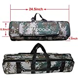 Shaddock Fishing 62CM/24.5-Inch Oxford Waterproof Fishing Rod Reel Bag Case Travel Organizer Tackle Tool Gear Storage Bag Case