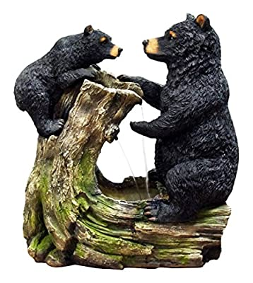 Alpine Bear And Cub Fountain Without Light, 26""