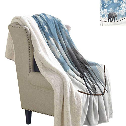 Zodel Baby Blanket Elephant Classic Elephant Balance Blanket for Family and Friends W59 x L78 ()