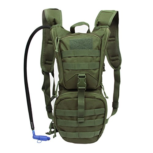 Water Bladder Bag Backpack Hydration Pack Hiking Camping 2L Green - 8