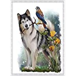 """Dog Diamond Painting- Malamute Diamond Painting Kits, Full Coverage, Round Rhinestone, DIY Tool Kit Art Supplies- Fun Gifts for Friends&Family, Adults&Children, Craftwork for Indoor Décor(12""""x16"""") 10"""