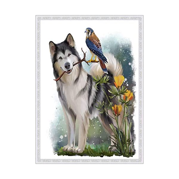 """Dog Diamond Painting- Malamute Diamond Painting Kits, Full Coverage, Round Rhinestone, DIY Tool Kit Art Supplies- Fun Gifts for Friends&Family, Adults&Children, Craftwork for Indoor Décor(12""""x16"""") 3"""