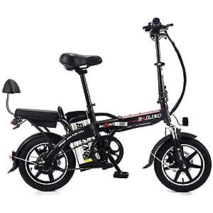 515UunrIZ2L. SS300 Bici elettrica pieghevole, bici elettrica pieghevole elettrica pieghevole da 350 W 25 Ah, bicicletta portatile da 14…