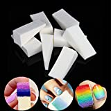 WEIHUALI 24Pcs Nail Art Gradient Color Stamping Sponge Gel Polish Varnish 3D Image DIY Transfer Soft Triangle Coloring Stamp Foam