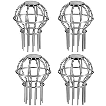 2INCH Gutter Guard 2 Inch 304 Stainless Steel Filter Strainer 4 Pack Stops Leaves Seeds and Other Debris Gutter Cleaning Tool