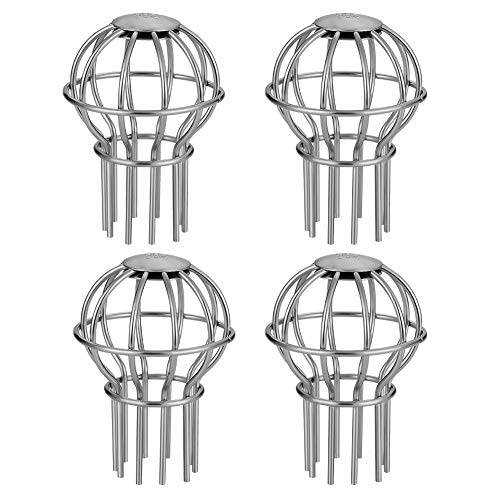 Gutter Guard 2 Inch 304 Stainless Steel Filter Strainer, Stops Leaves Seeds and Other Debris Gutter Cleaning Tool - 4 Pack (2INCH)