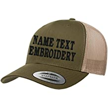 Caprobot iD Custom Embroidered Snapback Hat Personalized Yupoong Embroidery Trucker Cap