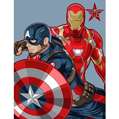 Cool and Fun Avengers Civil War Polyester Throw for Kids Boys Bedroom: Home & Kitchen [5Bkhe1006547]