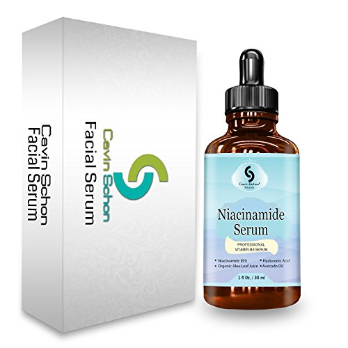 1 fl. Oz Niacinamide 5% Serum Vtamin B3 - Facelift in a Bottle -With natural aloe leaf juice, avocado oil, and hydraulic acid 100% Vegan Anti Aging Facial Serum - see results or your