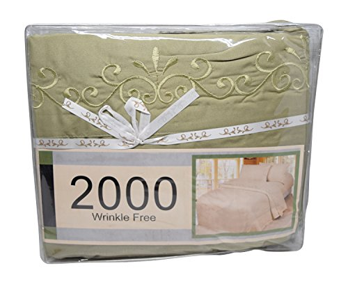 Silky Soft High Quality 100% Microfiber Bed Sheets Set 4 Pc - Wrinkle and Fade Free, Stain Resistant, Luxury Fitted & Flat Sheets Plus Pillowcases with Extra Deep Pockets (Full, Sage Green)