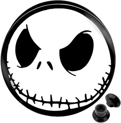 Smiley happy face ear plug tunnel Flesh Silicone Flared Stretcher 6mm-18mm