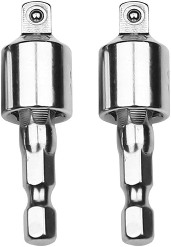 Loriver 1//4 3//8 Impact Driver Tool Socket Adapter Power Drill Bit Set Hex Shank New