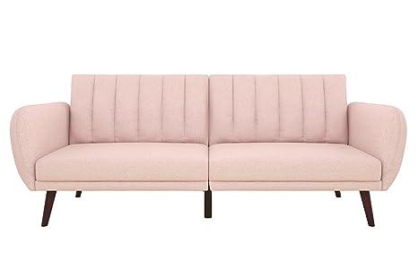 Incredible Amazon Com Pink Futon Sofa Bed Convertible Adjustable Andrewgaddart Wooden Chair Designs For Living Room Andrewgaddartcom