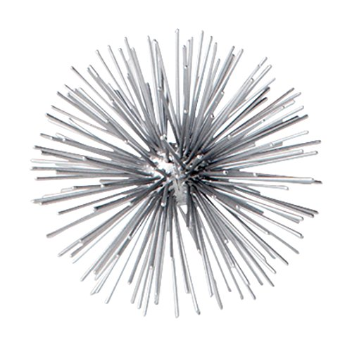 Torre & Tagus 901917A Spike Decor Sphere Small-Silver, 4'' x 4'', by Torre & Tagus