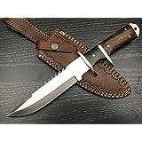 "ASH j52 CUSTOM HANDMADE HUNTING BOWIE KNIFE 440C STEEL 12"""