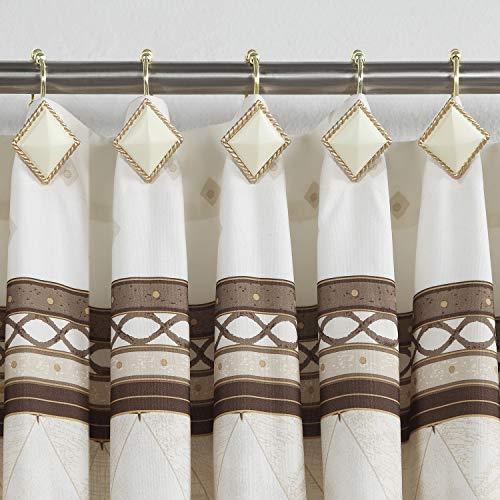 DS BATH Corinthia Shower Curtain Hooks,Bathroom Curtain