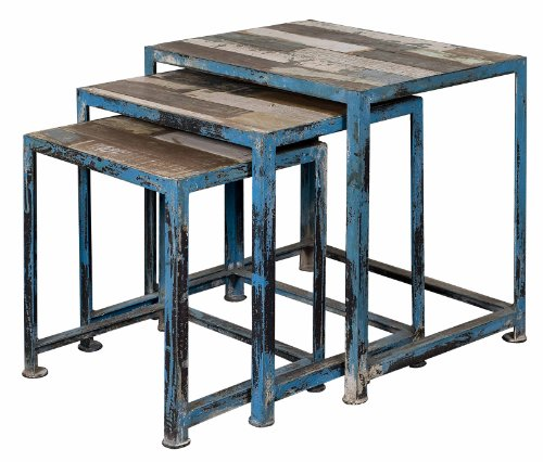 Treasure Trove Accents 17428 Nesting Tables-Reclaimed, Set of 3, Reclaimed Wood