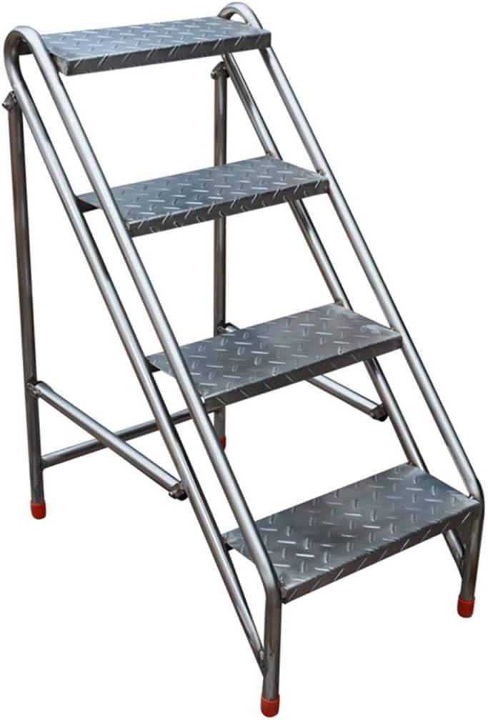 QQXX Escalera de Escalera portátil Plegable Industrial de 4 peldaños, Escalera de casa Escaleras de Acero Inoxidable para Adultos, Herramienta de jardín para el hogar Servicio Pesado Máx. 150kg: Amazon.es: Hogar