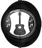 """Stainless Steel Wind Spinner, 12"""" Guitar, Black Starlight"""