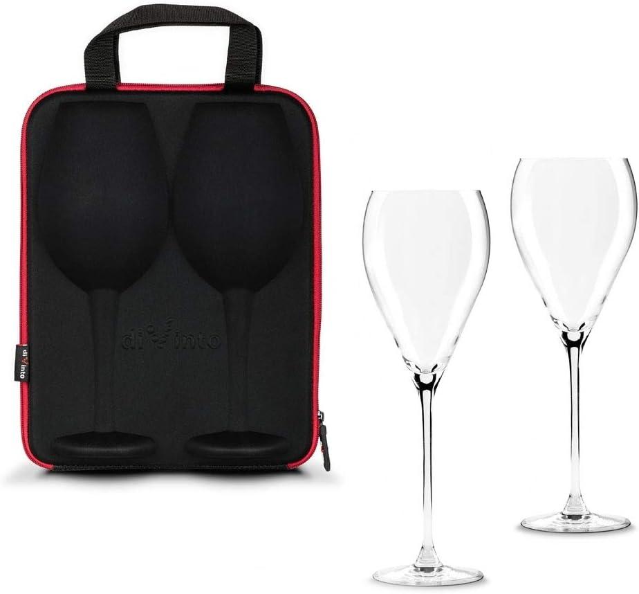 Monsterzeug - Copas de vino en bolsa, estuche con dos vasos, vino tinto, picnic – Bolsa 25 x 32 cm: Amazon.es: Hogar