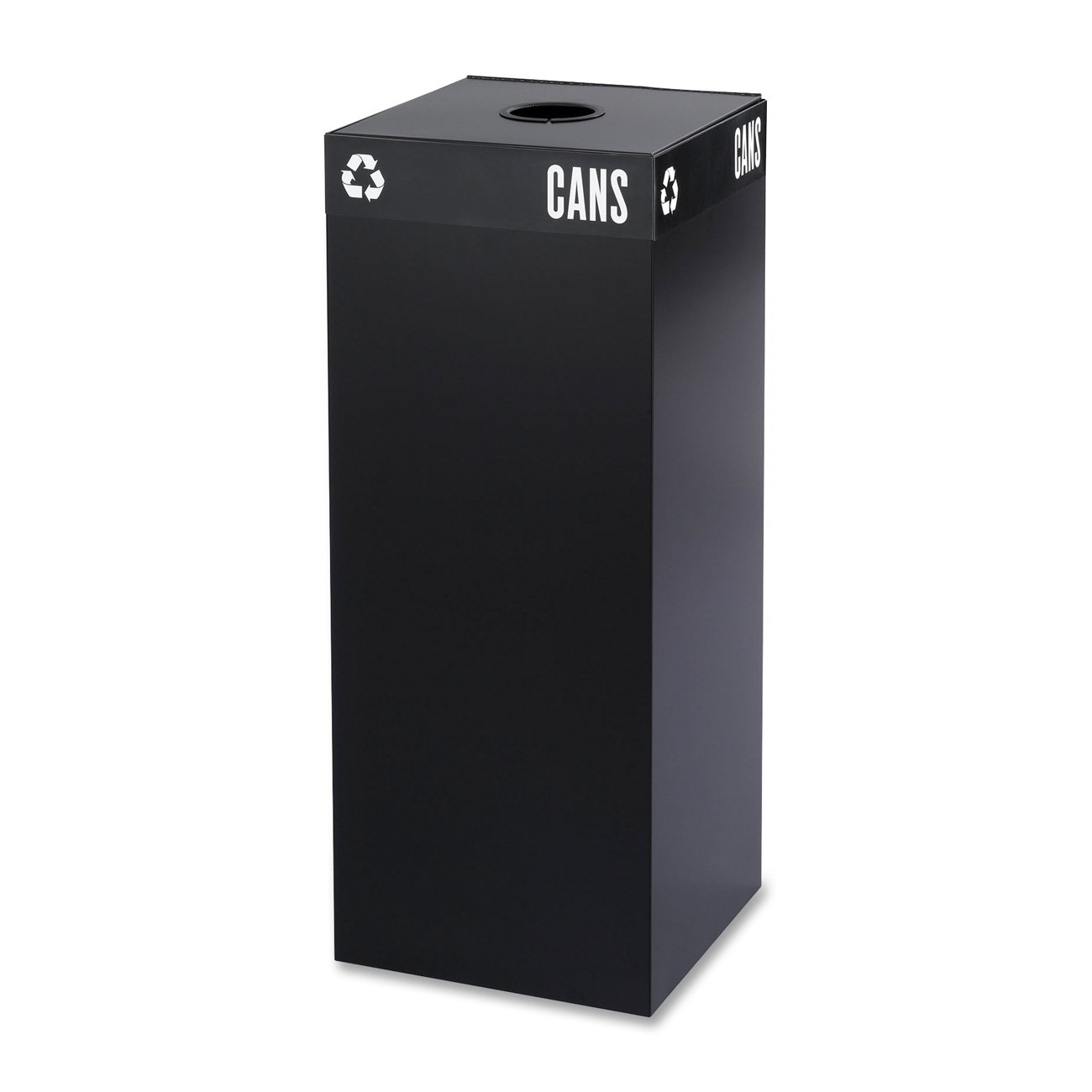 Safco Products 2983BL Public Square Recycling Receptacle Base, 37-Gallon (Top sold separately), Black