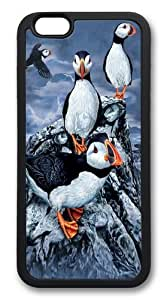 Find 10 Puffins TPU Silicone Case Cover for iphone 6 plus 5.5 inch Black wangjiang maoyi