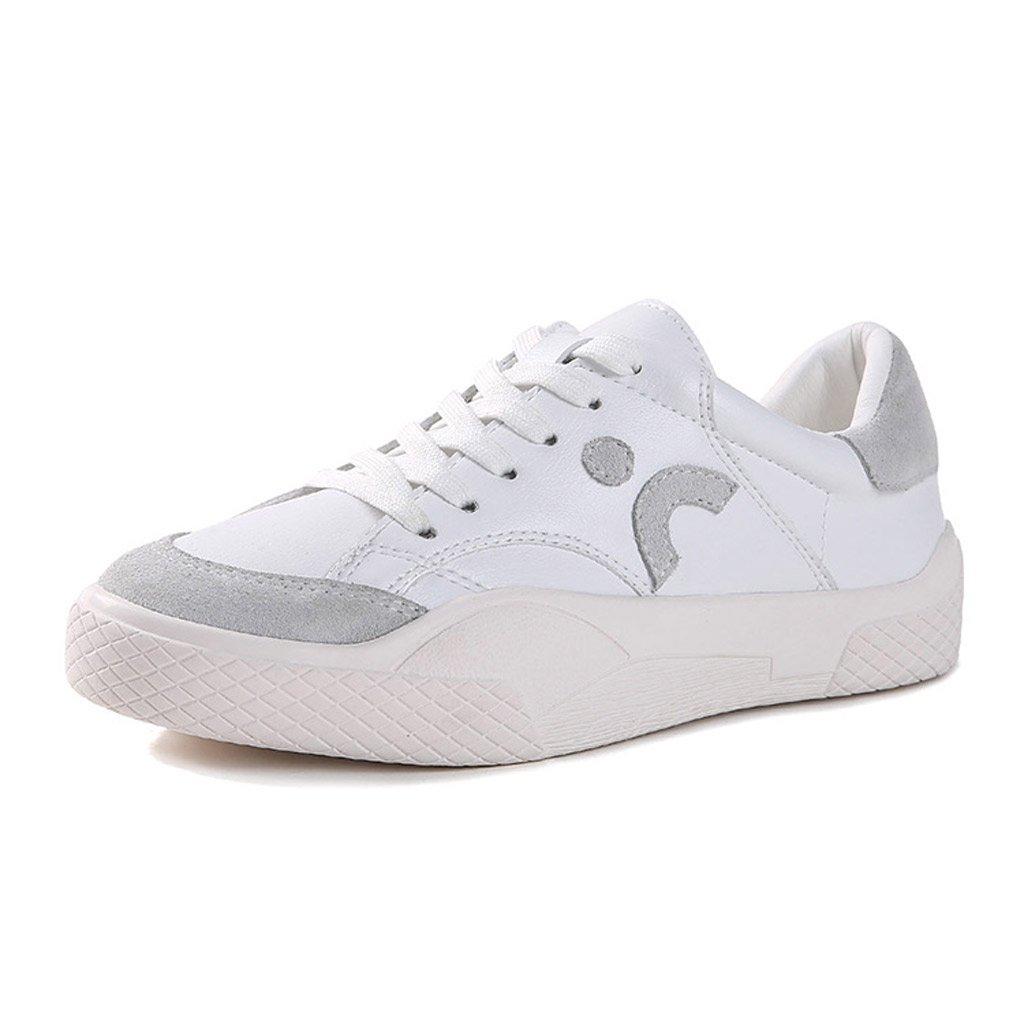 SHI Nuevos Zapatos Deportivos Zapatos Bajos de Mujer Zapatos de Skate Transpirables de Ocio estudiantil (Color : Blanco, Tamaño : 39) 39|Blanco