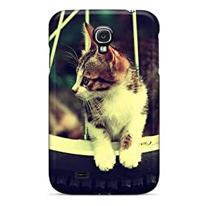 High Quality Shock Absorbing Case For Galaxy S4-cat On The Wheel