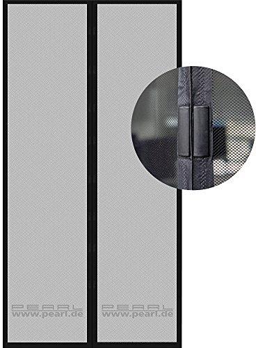 PEARL Selbstschließendes Fliegennetz für Türen, 90 x 210 cm, schwarz