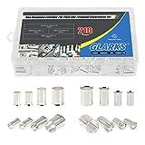 Glarks 210Pcs AWG 4 2 1 2/0 Wire Copper Crimp