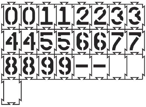 Quadra-Lock Interlocking Number Stencils - 12 inch - 60 mil ultraflex ind by Stencil Ease