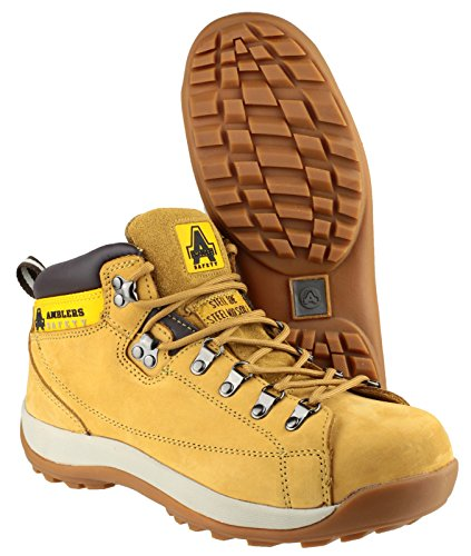 Amblers Steel Lace-Up Textile Lined Mens Boots - Honey - Size 7 8 9 10 11 12 Amarillo - ocre