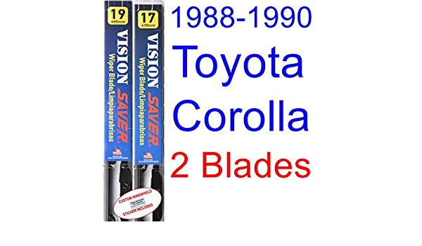 Amazon.com: 1988-1990 Toyota Corolla SR5 All Trac Replacement Wiper Blade Set/Kit (Set of 2 Blades) (Saver Automotive Products-Vision Saver) (1989): ...