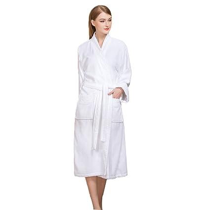 Toallas De Baño Albornoz de algodón material de toalla toallas gruesas femeninas cómodas estaciones cálidas pijamas ...