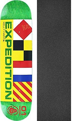 人形ポール異常Expedition OneスケートボードケリーHartナビゲータグリーンスケートボードデッキ – 7.9