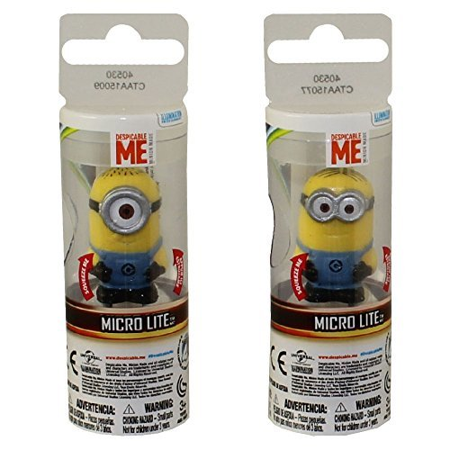 Despicable Me Minion Micro Lite, Squeeze to Light 2 Pack Dave, Stuart]()