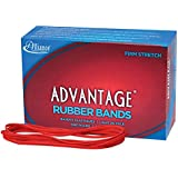 "Alliance Rubber 97405 Advantage Rubber Bands Size #117B, 1 lb Box Contains Approx. 200 Bands (7"" x 1/8"", Red)"