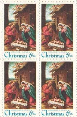 Christmas Nativity Set Of 4 X 6 Cent US Postage Stamps NEW Scot 1414