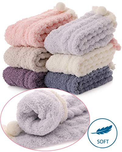 Womens Girls Fuzzy Slipper Socks Cabin Soft Fluffy for sale  Delivered anywhere in USA