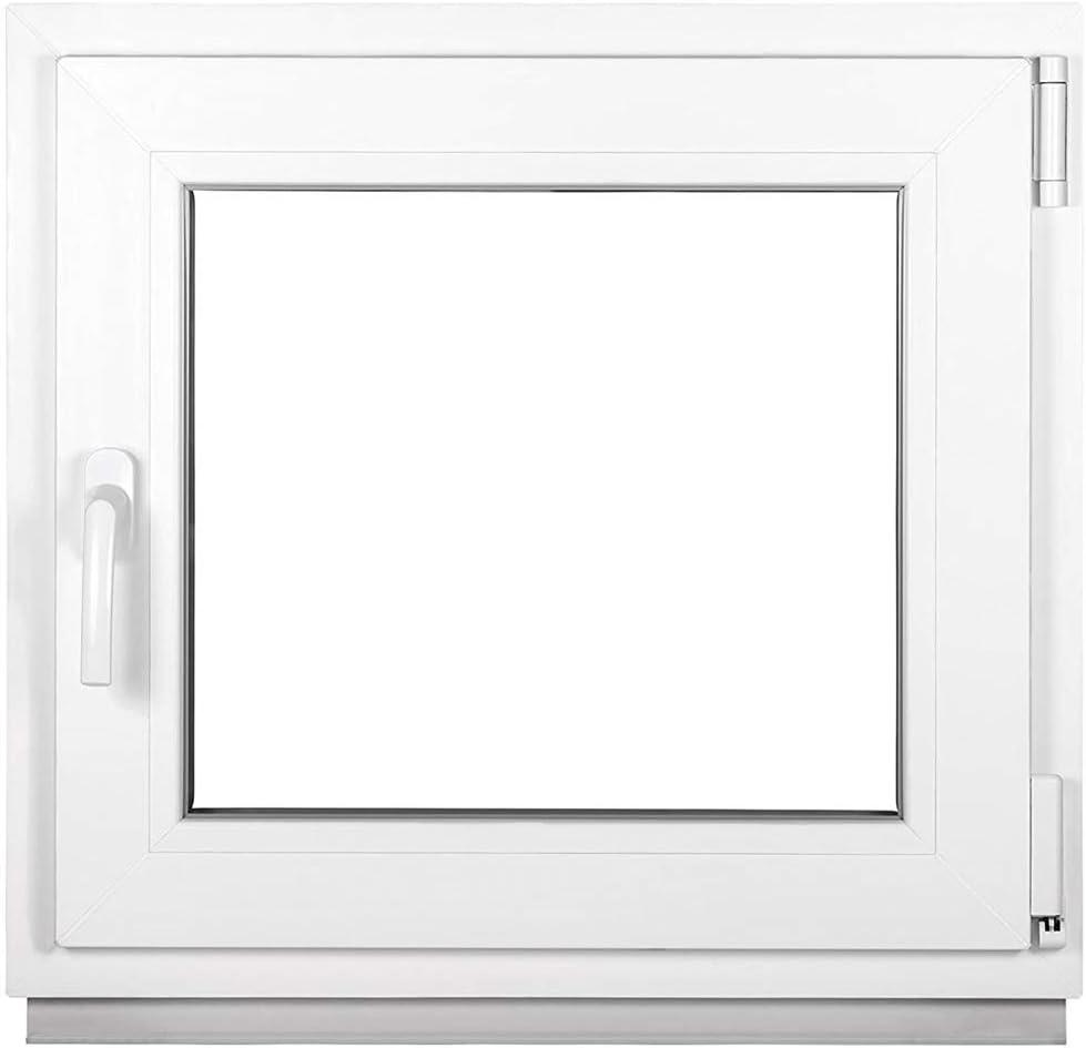 BxH:70x50 cm DIN Links Fenster Kellerfenster Kunststofffenster wei/ß Dreh-Kipp Premium 3 fach Verglasung ALLE GR/Ö/ßEN