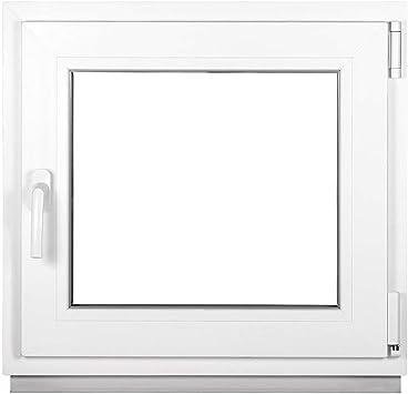 - Fenster wei/ß BxH:45x95 cm DIN Links Kellerfenster 2 fach Verglasung PVC Premium Dreh-Kipp ALLE GR/Ö/ßEN Kunststoff