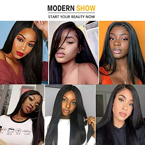 Mariska 10A Straight Human Hair Bundles Virgin Brazilian Straight Hair 3 Bundles (12 14 16) 100% Unprocessed Human Hair 3 Bundles for Black Women (12 14 16, herbal colour 3 bundles)