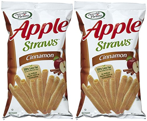 Sensible Portions Cinnamon Apple Straws – 5 oz – 2 pk