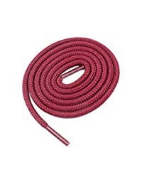 "Round Shoelaces 3/16"" Thick Solid Colors for All Shoe Types Several Lengths (Burgundy-36)"